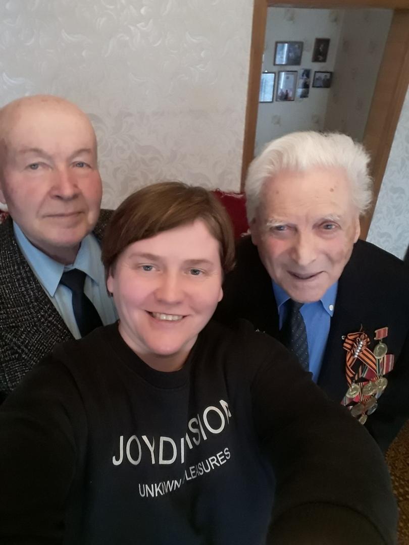 Светлана Молодцова. Фото с ветеранами