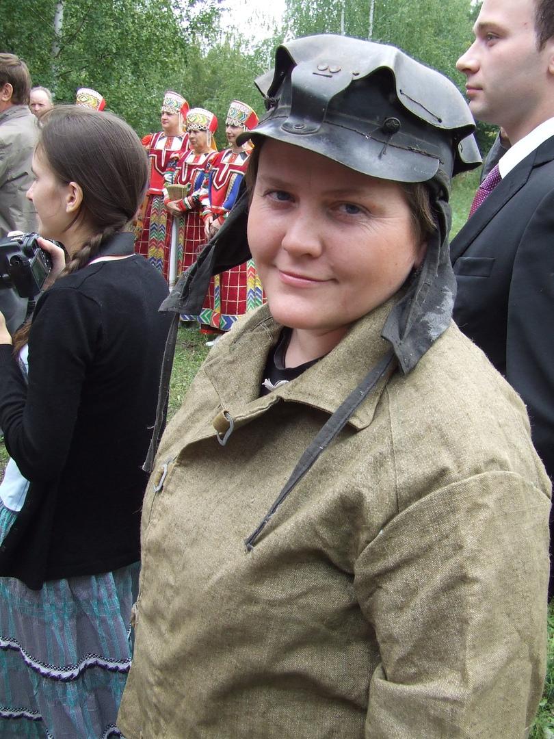 Светлана Молодцова. Фото в шахтерской одежде