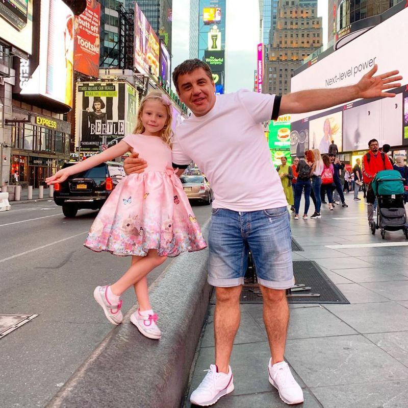 Настя Радзинская с папой