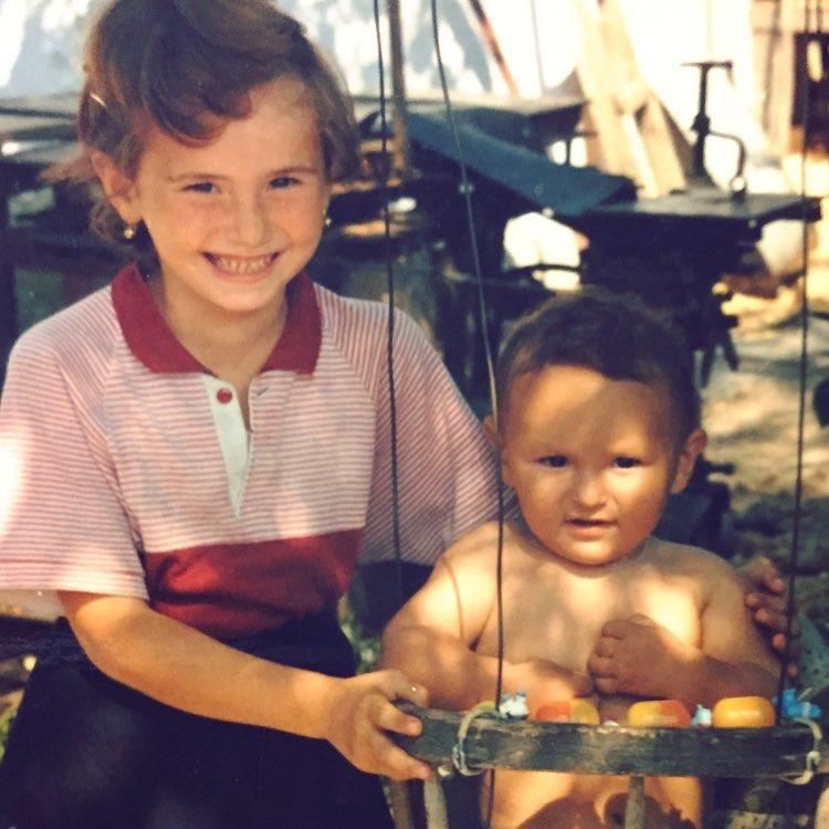 Рустам Нахушев [Enrasta]. Детское фото со старшей сестрой