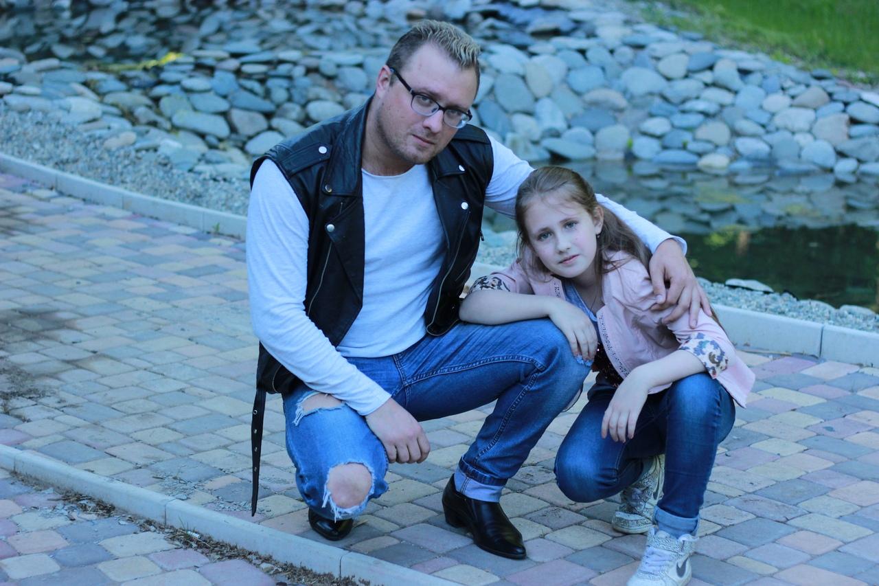 Максим Ларичев с дочерью Елизаветой